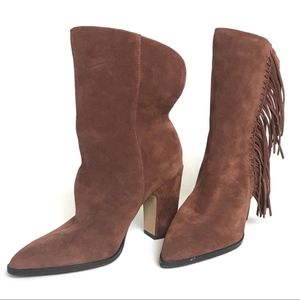 Dolce Vita Brown Suede Tasseled Women's Boots S: 9